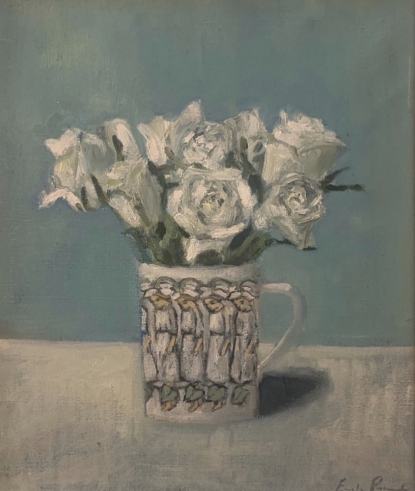 Roses in a Swedish cup